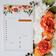 Floral Daily Notepad