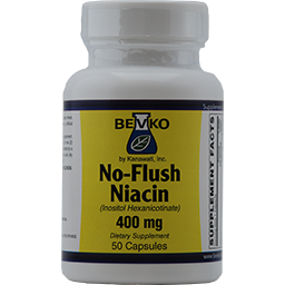 Niacin 400 mg - No Flush | 50 Capsules - Bevko Vitamins