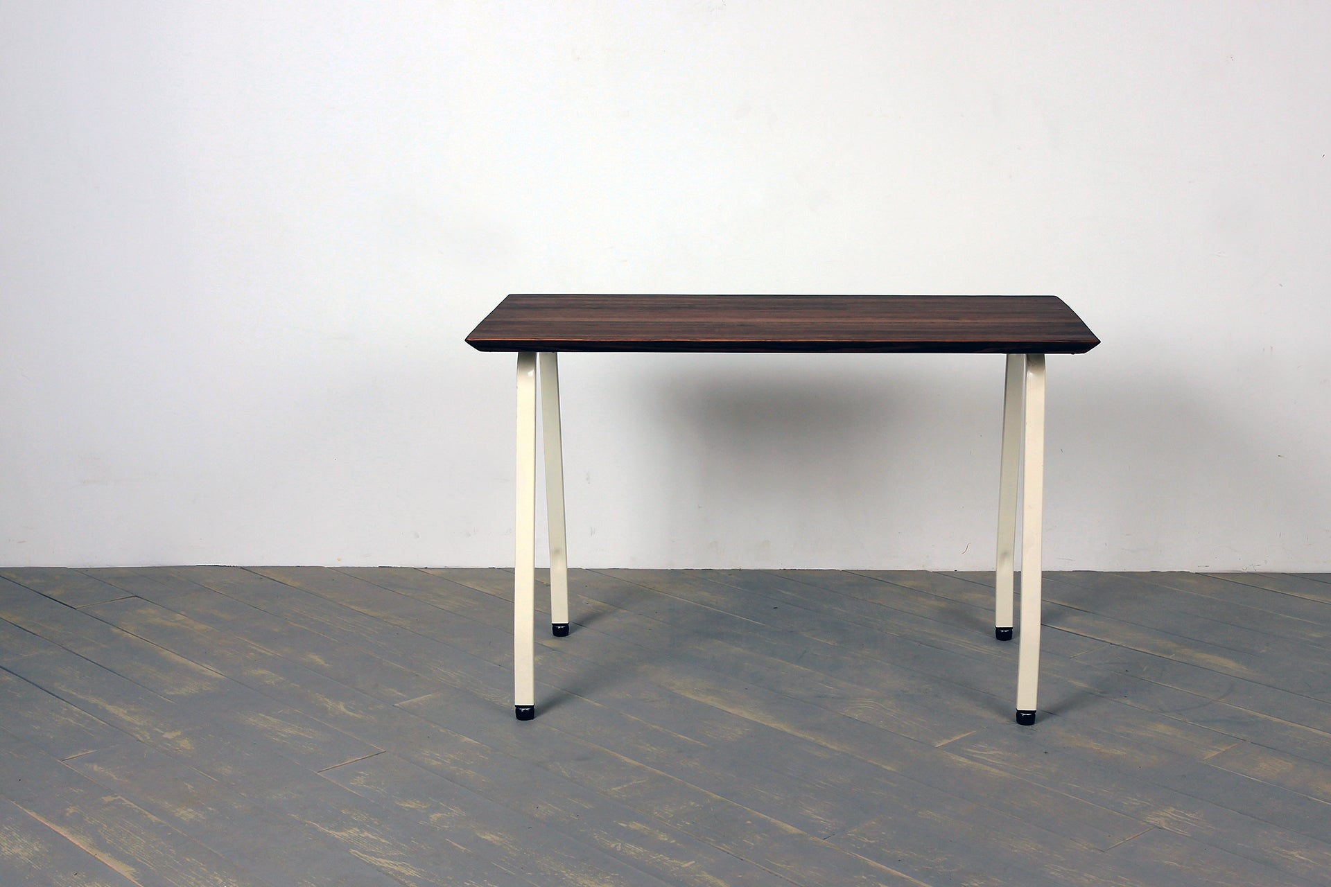 The Arthropod Bevel Desk in Warm Brown and 9016 Traffic White