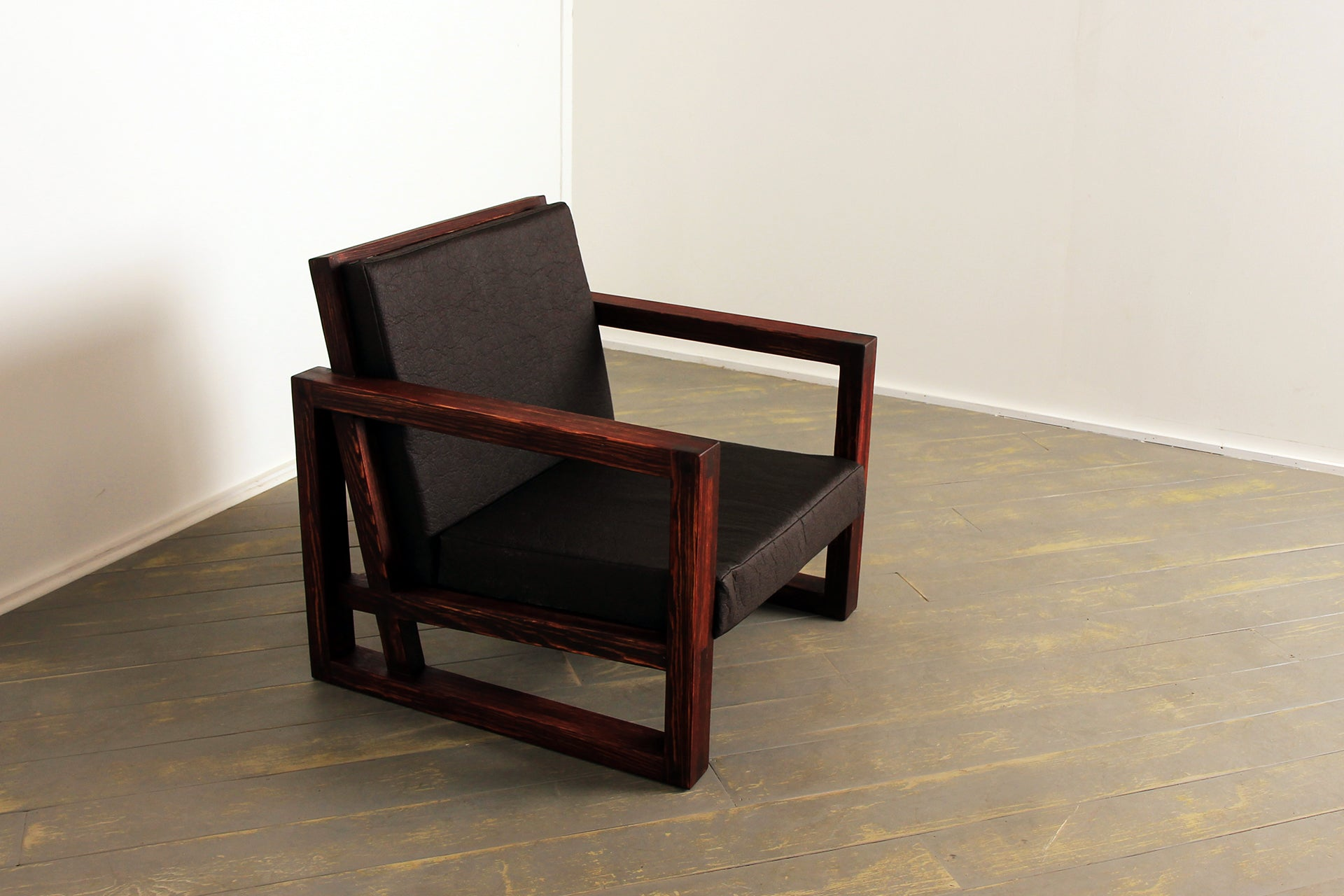 The Breathe Easy Chair in Distressed Bordeaux and Chestnut