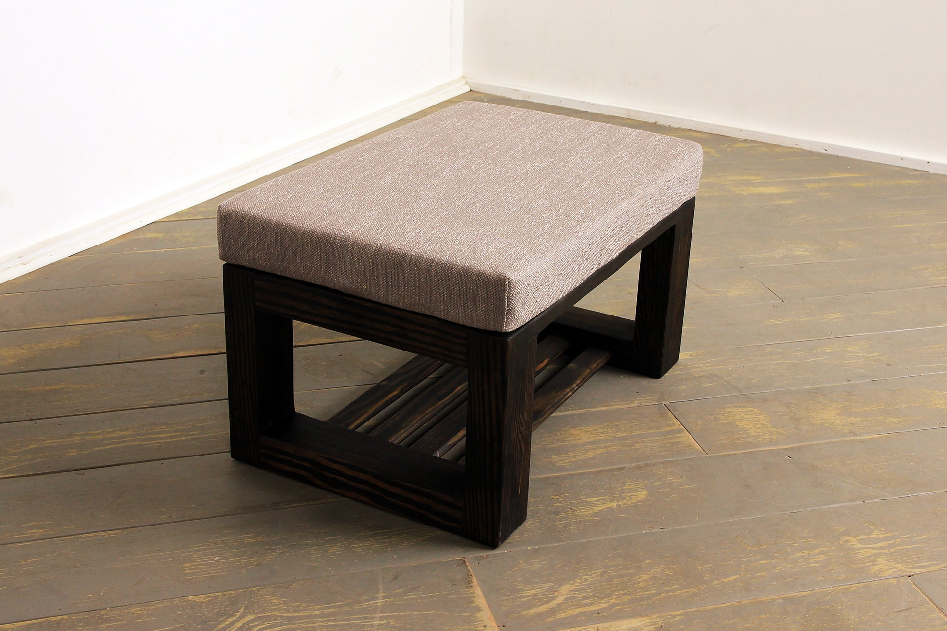 The Breathe Easy Ottoman in Whetstone and Silver