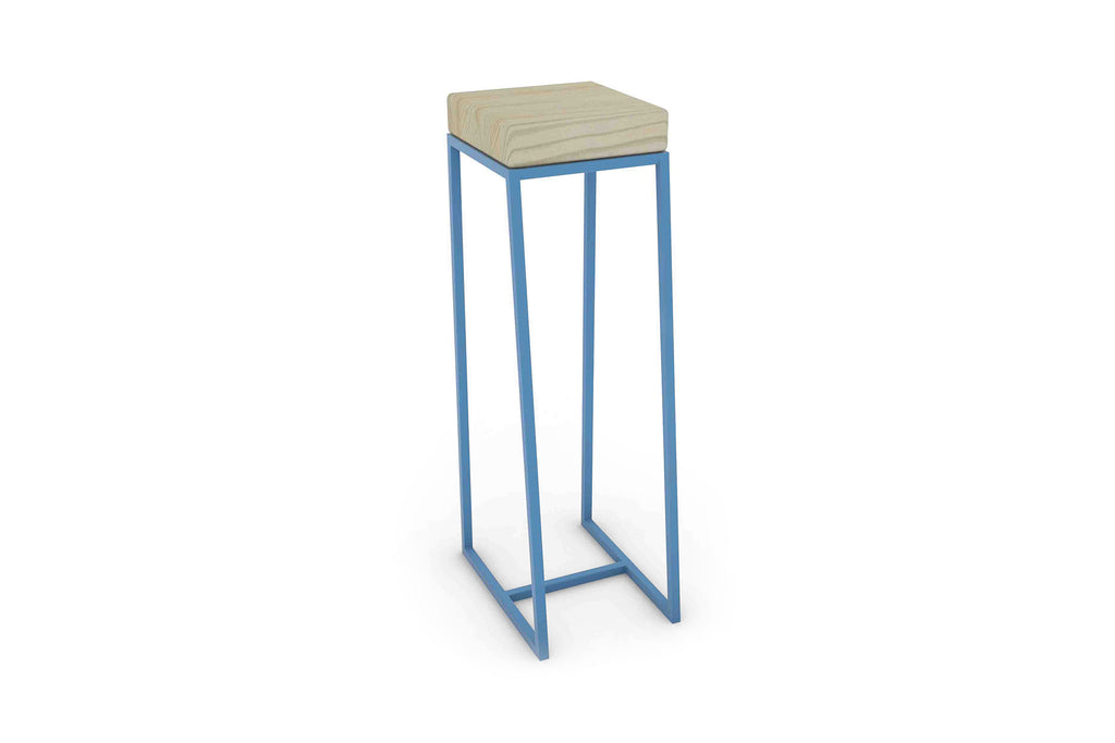 The High Ball Table in Cloud 9 and 5012 Light Blue
