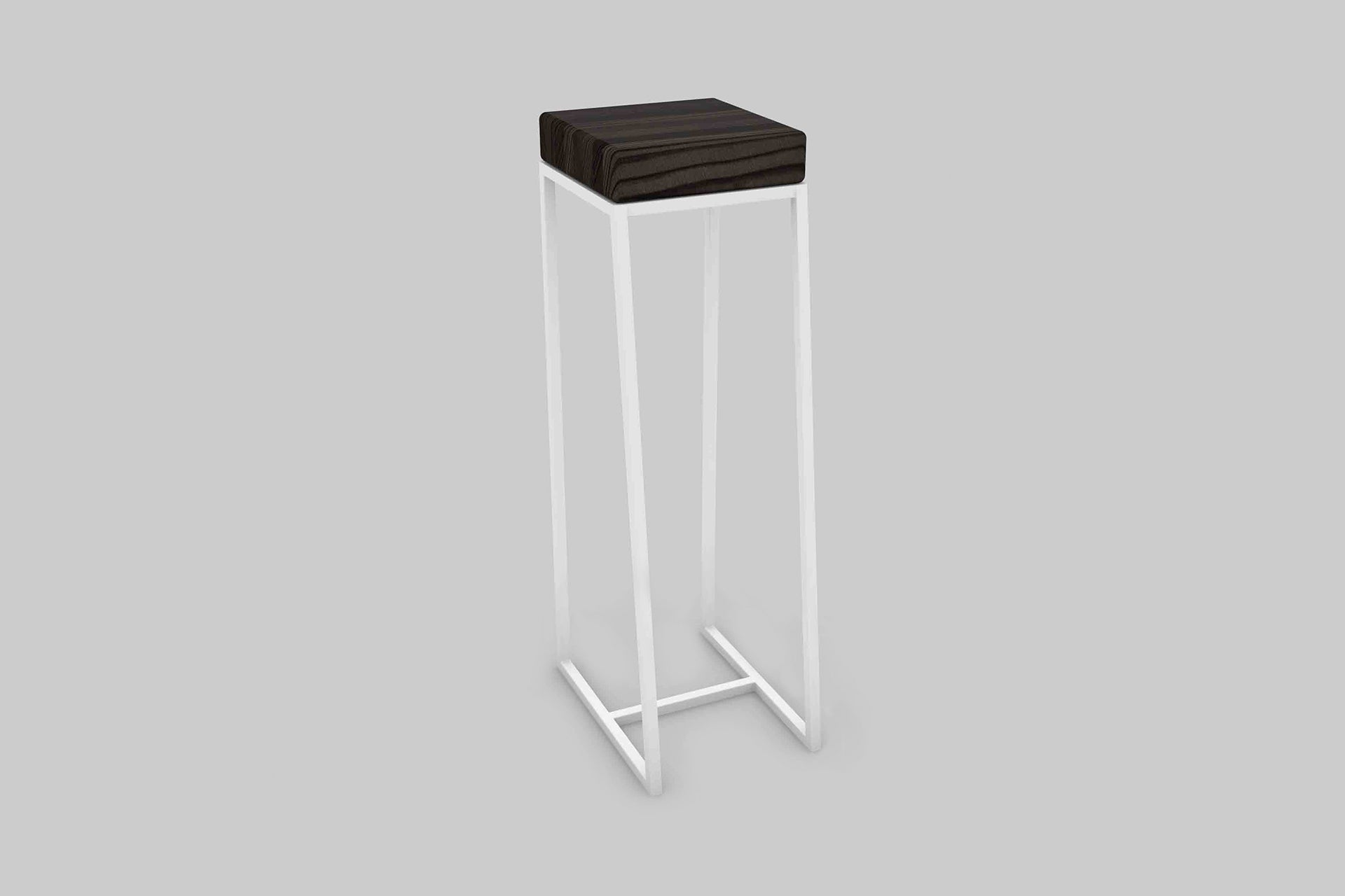 Digital rendering of the High Ball Table in Whetstone and 9016 Traffic White