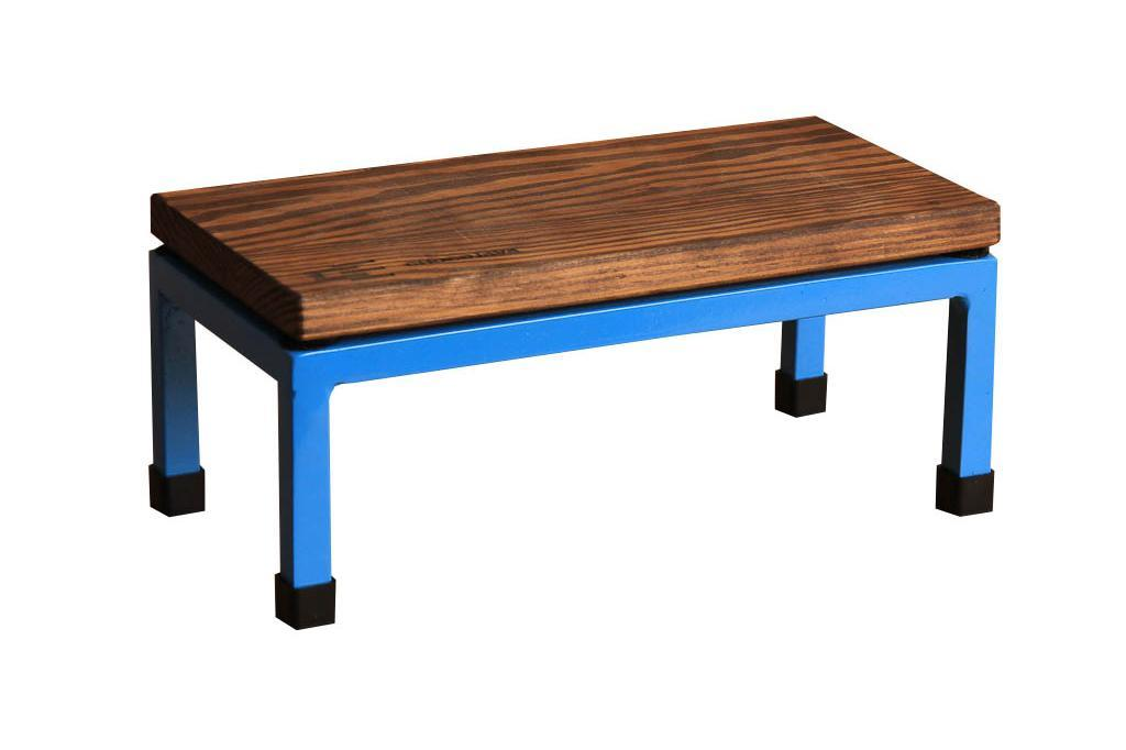 The Mini Table in Chocojava and 5012 Light Blue