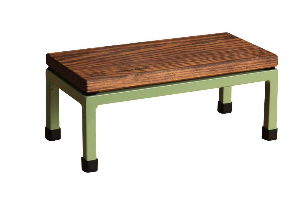 The Mini Table in Chocojava and 6021 Pale Green