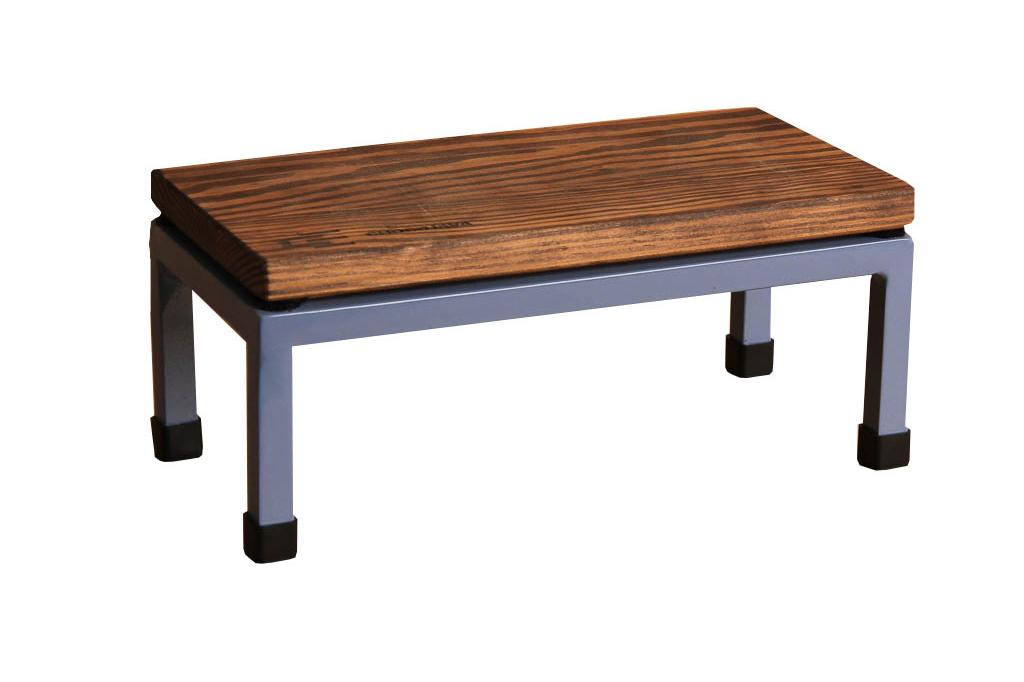 The Mini Table in Chocojava and 5014 Pigeon Blue