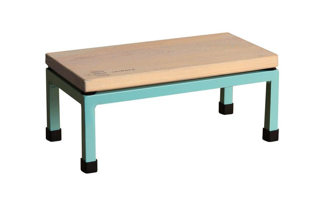 The Mini Table in Cloud 9 and 6027 Light Green
