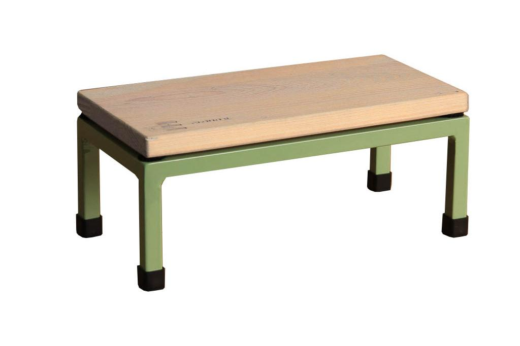 The Mini Table in Cloud 9 and 6021 Pale Green