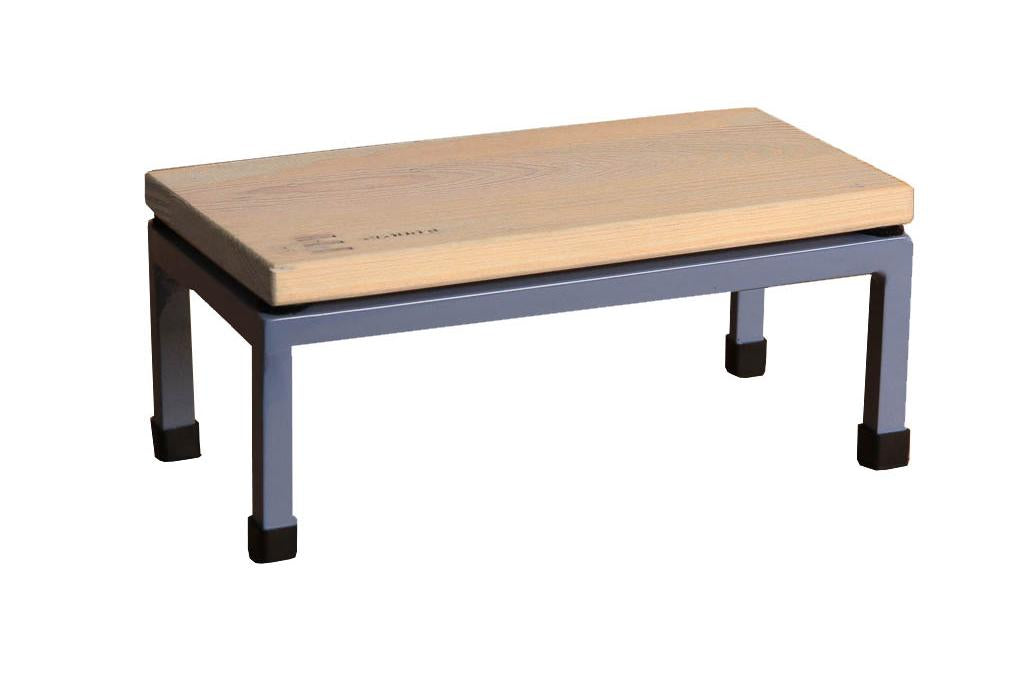 The Mini Table in Cloud 9 and 5014 Pigeon Blue