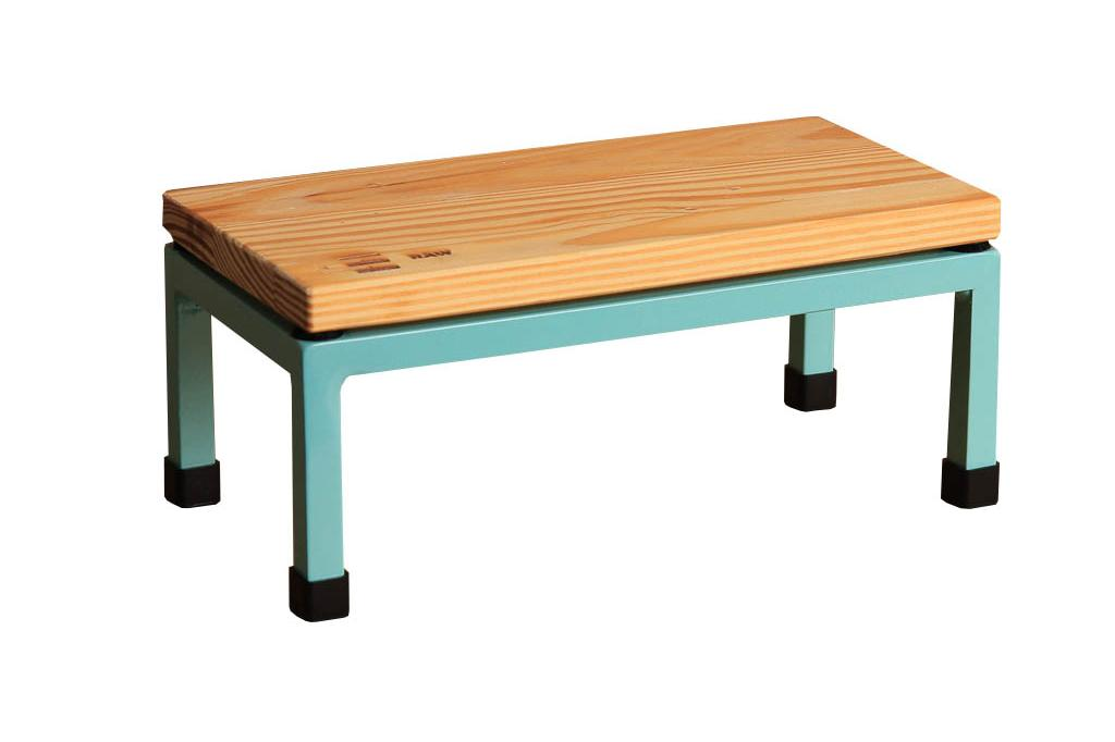 The Mini Table in Raw and 6027 Light Green