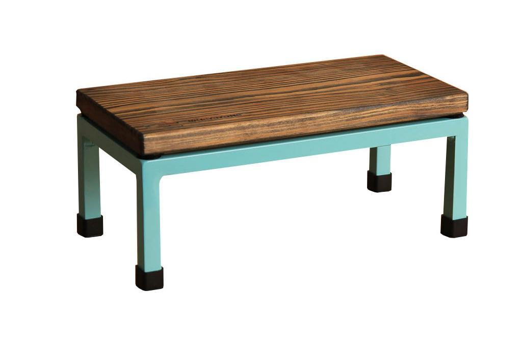 The Mini Table in Whetstone and 6027 Light Green