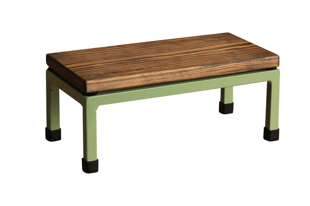 The Mini Table in Whetstone and 6021 Pale Green
