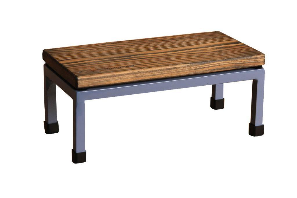 The Mini Table in Whetstone and 5014 Pigeon Blue