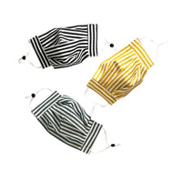 Limited Edition, Re-Usable, Hand-Made, Non-Medical Mask - Stripes