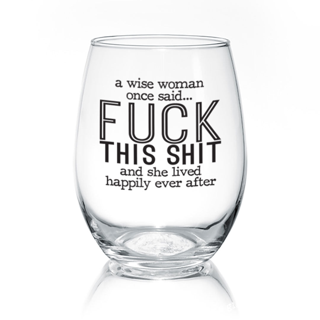 A Wise Woman | Wine Glass