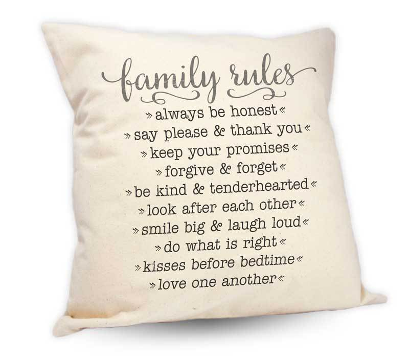 Family Rules Cushion
