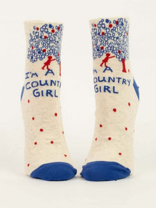 I'm a Country Girl Ankle Socks-Women