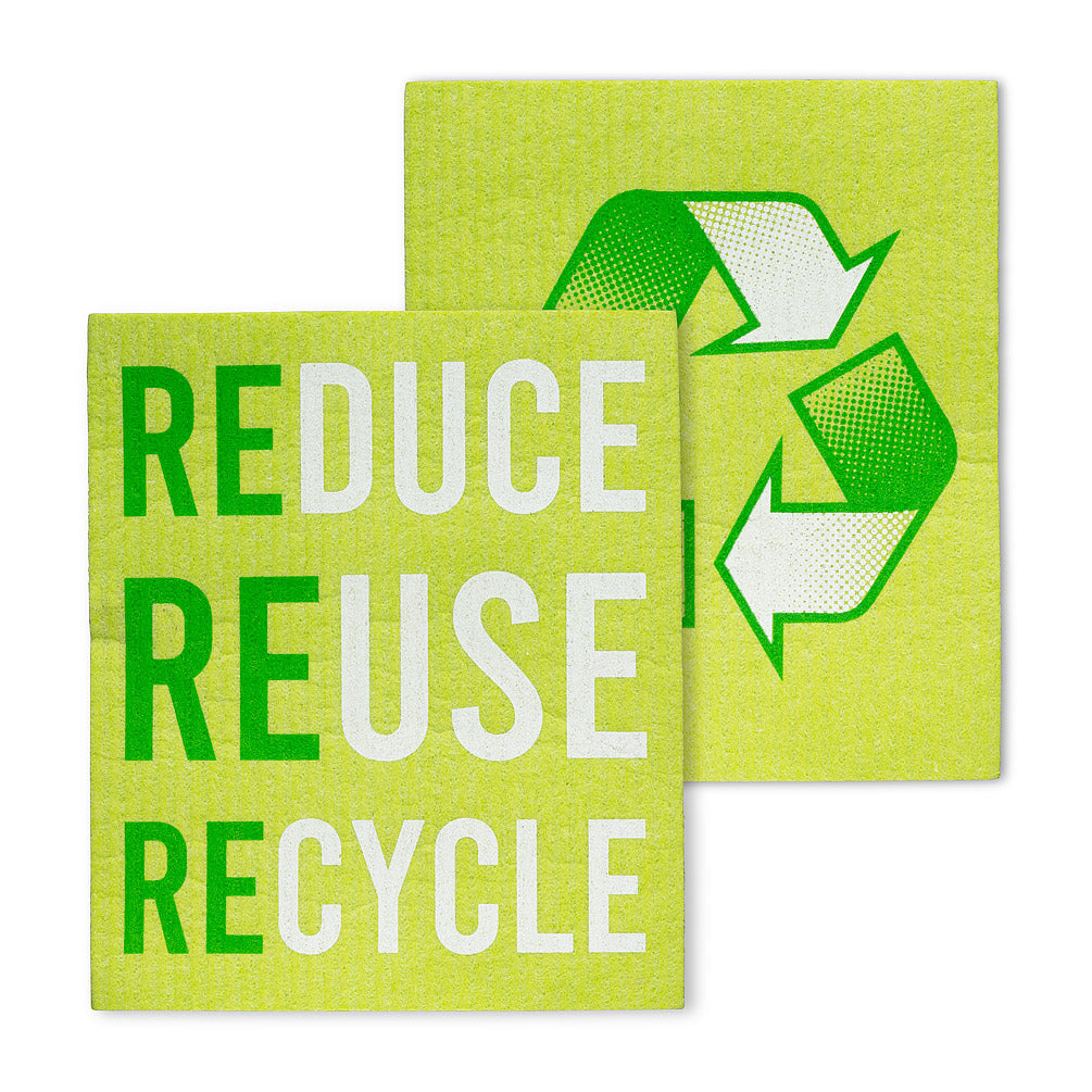 Reduce Reuse Recycle Dishcloths-Set of 2