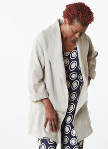 Marcella Jacket in Specialty Heavy Weight Linen