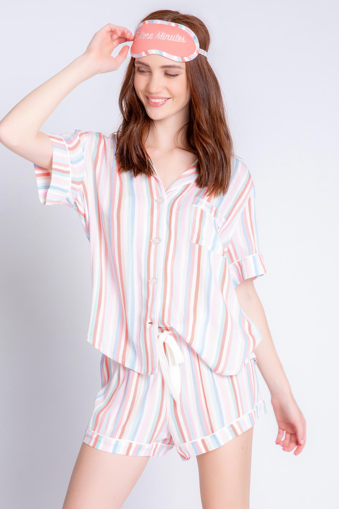 PJ Salvage Saturday Morning Stripe Set