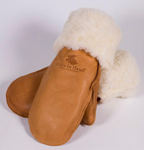 Deerskin Mitts - Saddle Tan