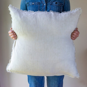 Lina Linen Cushion in Natural