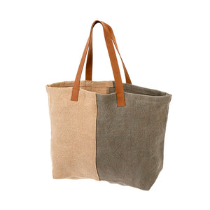 Soft Jute Tote in Cool Grey