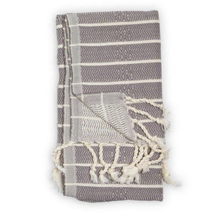 Stripe Bamboo Towel in Slate