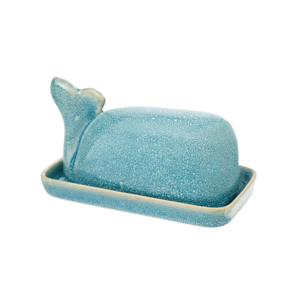 Whale Butter Dish-Turquoise