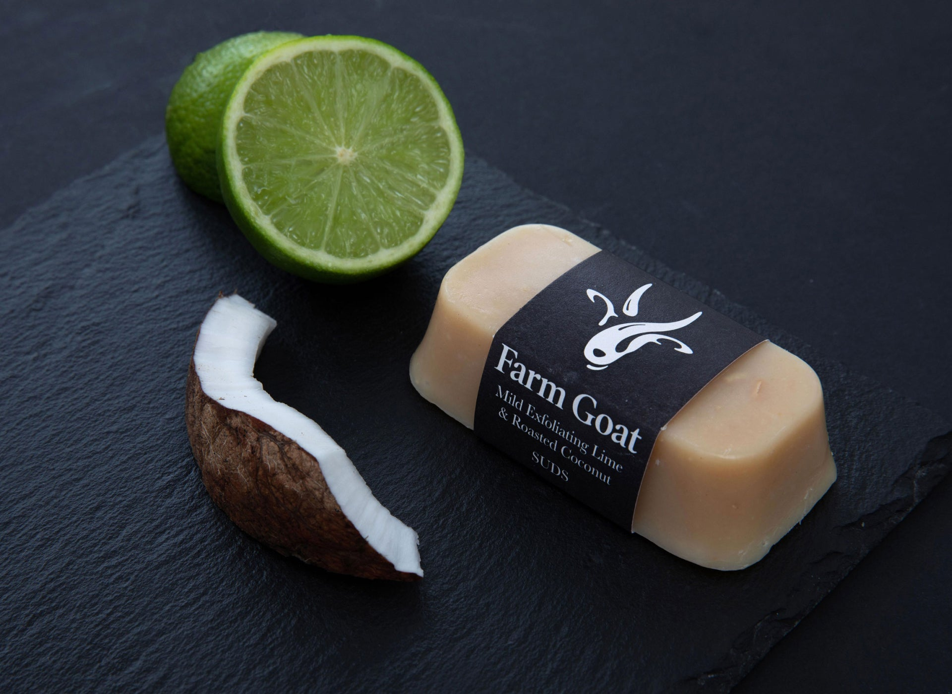 Exfoliating Lime & Roasted Coconut.
