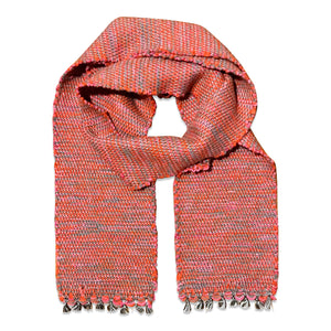 Coral and Grey Camelhair Scarf