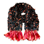 Load image into Gallery viewer, Flirt+Ribbons Red and Black Scarf
