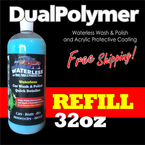 32oz REFILL DualPolymer Waterless Detailer with Acrylic Protective Coating