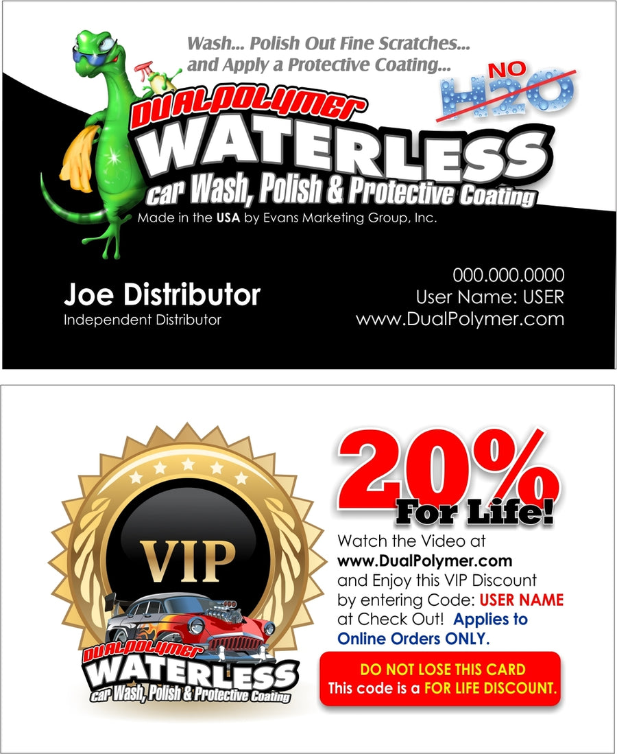 1000 DualPolymer VIP Business Cards