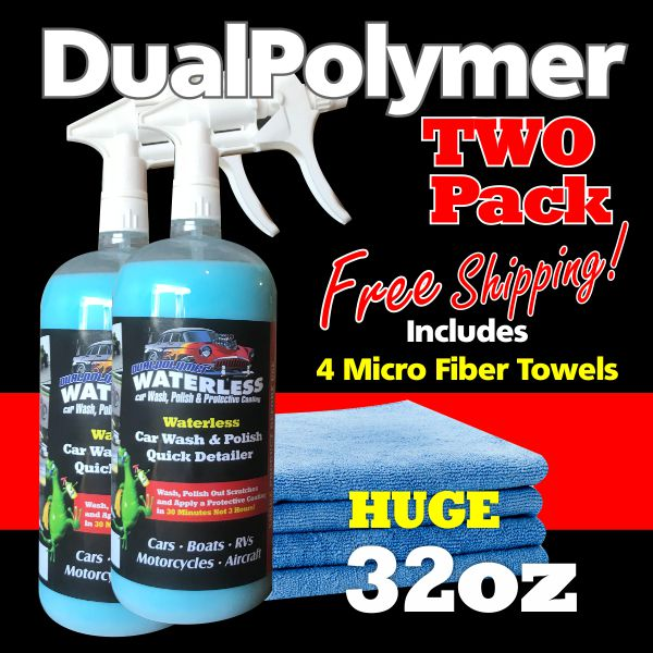 TWO PACK ($32.98EA) DualPolymer Single 32oz with MicroFiber Towels