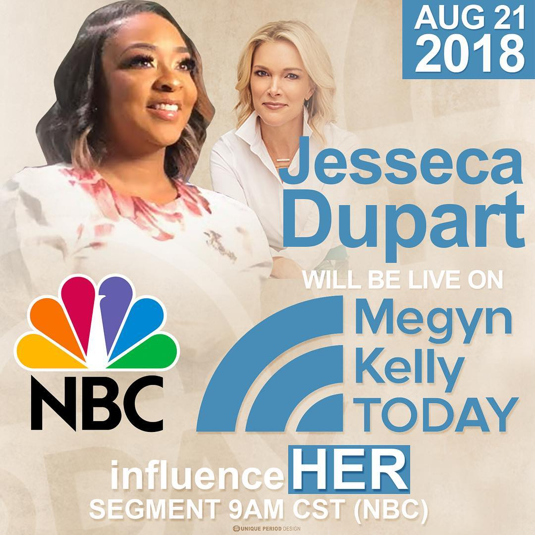 Jesseca Dupart, CEO of Kaleidoscope Hair Products Featured on NBC's Megyn Kelly Today