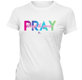 Pray Through the Process Tshirts - White Crew/Vnecks