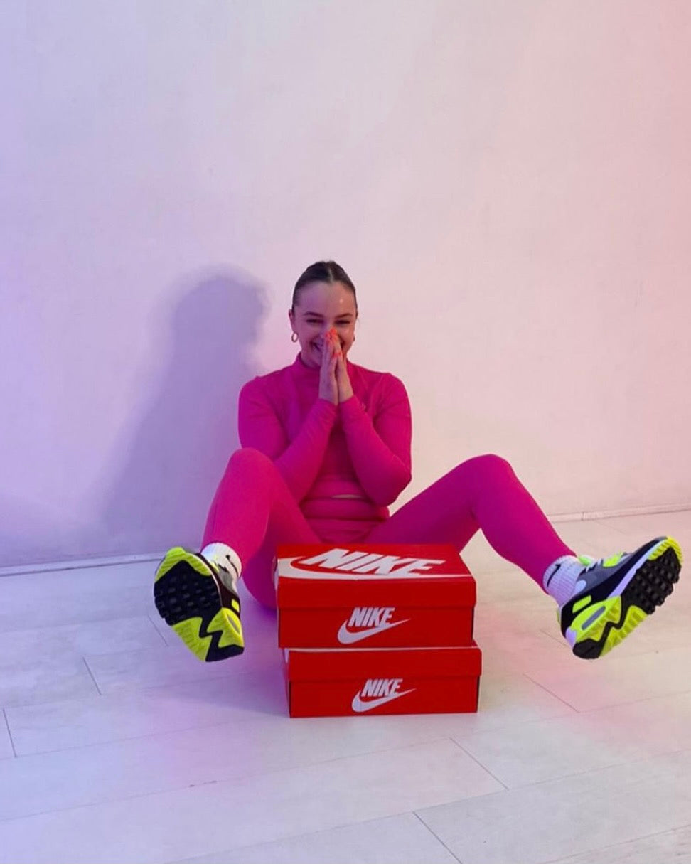 Titi Finlay and Nike shoes