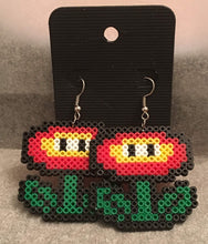 Load image into Gallery viewer, Ice & Fire Flower Mini Perler/Artkal Bead Dangle Earrings- Free Shipping