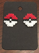 Load image into Gallery viewer, Pokemon Ball Mini Perler Stud Earrings