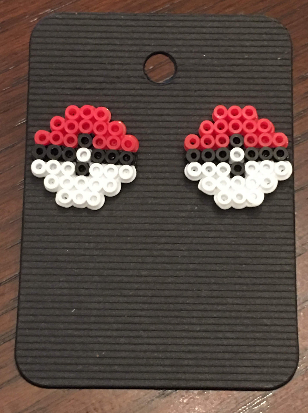 Pokemon Ball Mini Perler Stud Earrings