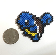 Load image into Gallery viewer, Squirtle - Pokemon Inspired Mini Perler Beads (Choose your finish)- Magnet, Computer, Keychain, Necklace, Clip, Sprite, art, collectible