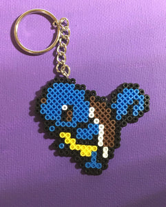 Squirtle - Pokemon Inspired Mini Perler Beads (Choose your finish)- Magnet, Computer, Keychain, Necklace, Clip, Sprite, art, collectible