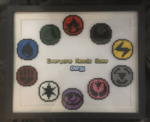 Pokemon Energy Framed Art- Everyone Needs Some Energy Pixel Art Mini