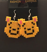 Load image into Gallery viewer, Piglet, Pooh, & Tigger Inspired Dangle MIni Perler/ Artkal Bead Earrings