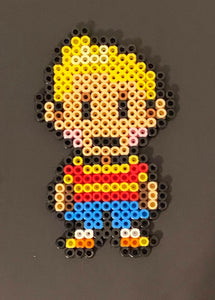 Lucas Earthbound Mother 3 Inspired Beaded Sprites- Wall Hangings, Kids Bedroom, Game Bedroom and More