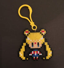Load image into Gallery viewer, Sailor Moon Inspired Clip/Magnet- Mini Beads - Perfect for Backpacks, Lockers, Party Favors, Purses, Bags and More