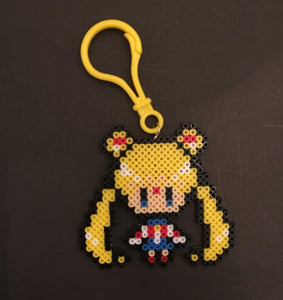 Sailor Moon Inspired Clip/Magnet- Mini Beads - Perfect for Backpacks, Lockers, Party Favors, Purses, Bags and More
