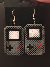 Load image into Gallery viewer, Gameboy & Controller Inspired Mini Perler/Artkal Bead Dangle Earrings