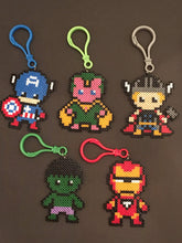 Load image into Gallery viewer, Avengers Inspired Mini Perler/Artkal Clips/ Magnet/ Keychain and More